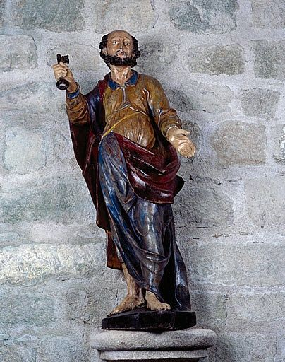 Statue (petite nature) : Saint Pierre