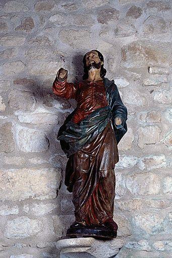 2 statues (petites natures) : Apôtre (?), Christ (?)