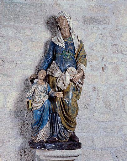 Groupe sculpté (petite nature) : Sainte Anne et la Vierge