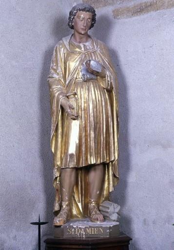 2 statues en pendant : saint Cosme et saint Damien