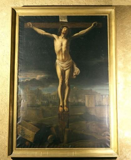 tableau, cadre : Christ en croix