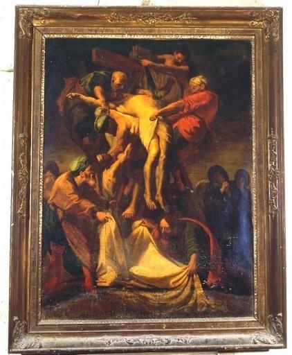 Tableau et cadre : Descente de croix