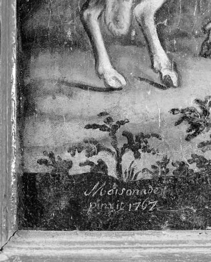 Tableau d'autel : saint Jean-Baptiste au désert