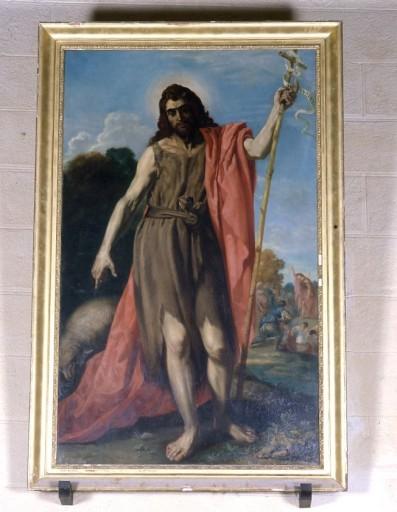 tableau, cadre : saint Jean-Baptiste prêchant dans le désert