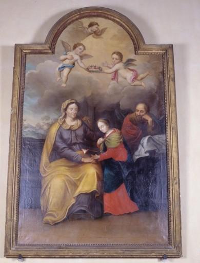 Tableau et cadre : Education de la Vierge
