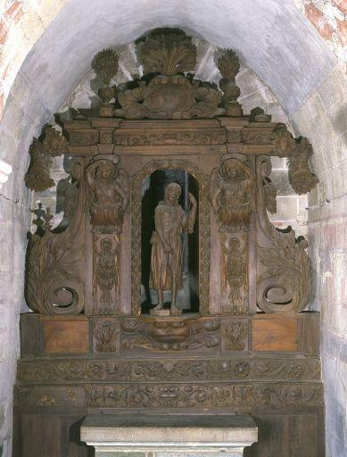 Retable et gradins d'autel de la 2e chapelle du transept sud