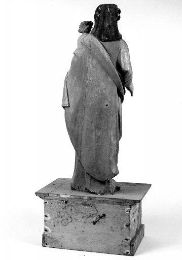 statue : Vierge à l'enfant (ensemble de statuaire)
