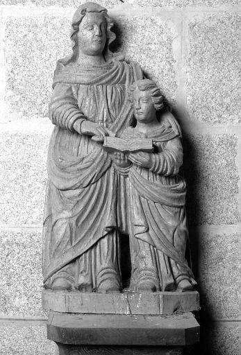 groupe sculpté : éducation de la Vierge (ensemble de statuaire)