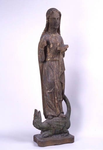 Statue : sainte Marguerite d'Antioche