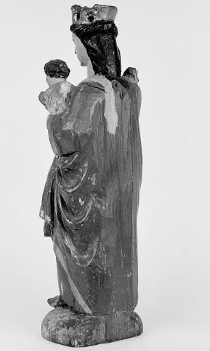 Statuette : Vierge à l'Enfant à l'oiseau