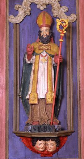 2 statues (petites natures, en pendants) : saint Blaise de Sébaste, saint Pardoux de Guéret (retable du maître-autel)