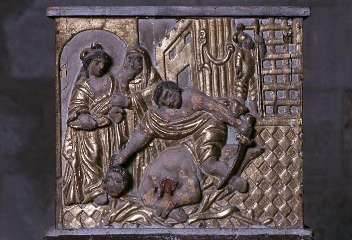 Bas-relief : la Décollation de saint Jean-Baptiste