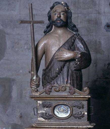Buste-reliquaire de procession : saint Jean-Baptiste