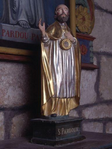 statuette de prêtre transformée en statue-reliquaire de saint Pardoux