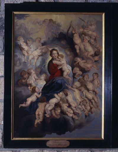 tableau, cadre : la Vierge à l'enfant entourée des saints Innocents, autrefois dite la Vierge aux anges