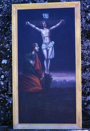 Tableau d'autel : le Calvaire (retable du maître-autel)