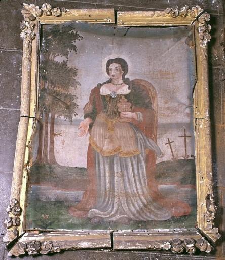 Tableau et cadre : sainte Marie-Madeleine