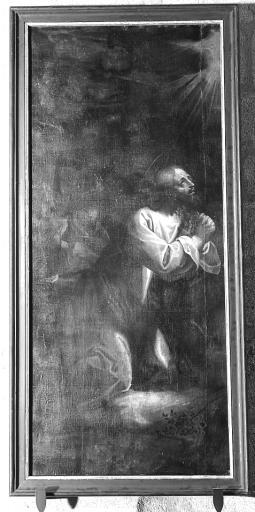 Tableau et cadre : l'Agonie du Christ au Jardin des oliviers