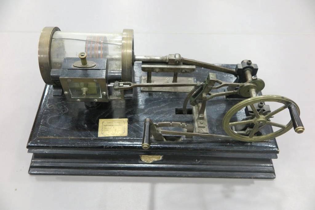modèle de cylindre et tiroir de distribution de vapeur avec coulisse de Stephenson