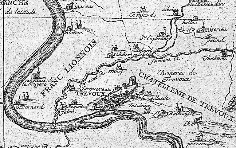 Carte : souveraineté de Dombes