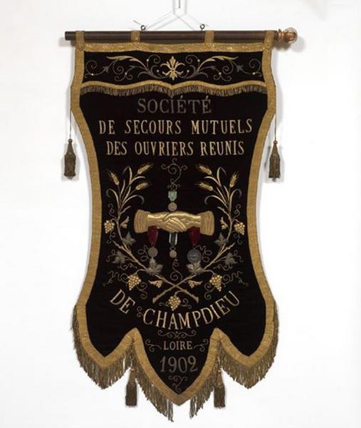 Bannière de procession de la Société de secours mutuels (n° 2)