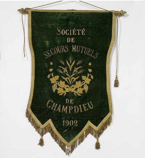 Bannière de procession de la Société de secours mutuels (n°1)
