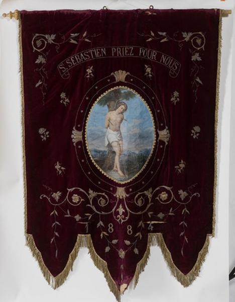 Bannière de procession de saint Sébastien et saint Roch (n° 2)