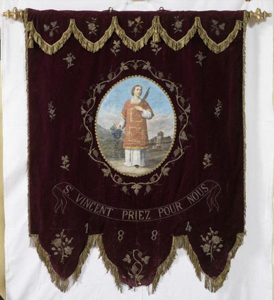 Bannière de procession de saint Vincent et saint Isidore