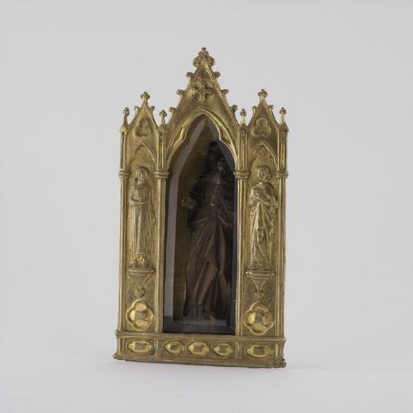 Figurine : Vierge à l'Enfant dite Vierge de Chorsin, et reliquaire