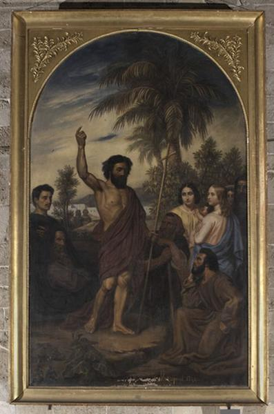 Tableau : la Prédication de saint Jean Baptiste
