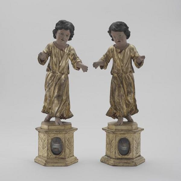 Reliquaires des saints Innocents (ensemble de 2 statues-reliquaires)