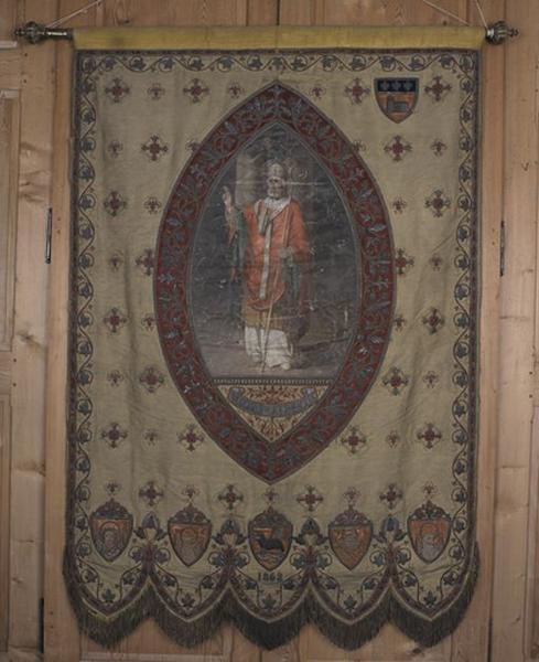 Bannière de procession de saint Aubrin et de Notre Dame d'Espérance