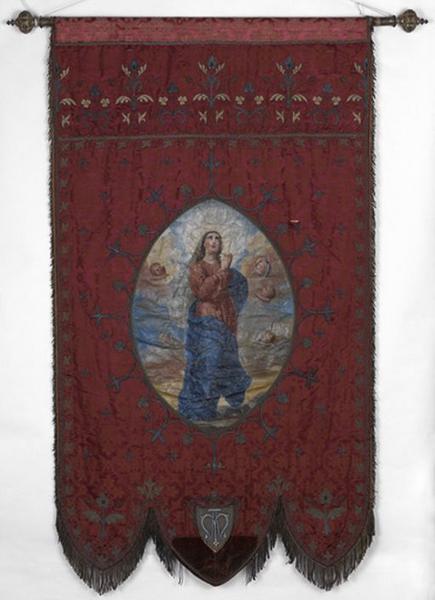 Bannière de procession de saint André et de l'Assomption
