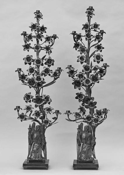 Ensemble de 4 chandeliers à 7 lumières (chandeliers-bouquets)