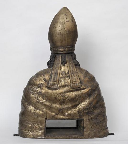 Buste-reliquaire de saint Aubrin