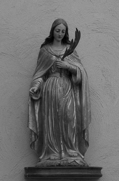 Ensemble de 2 statues : martyres