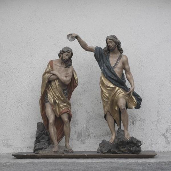 Groupe sculpté : le Baptême du Christ