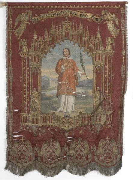 Bannière de procession de saint Etienne (n°1)