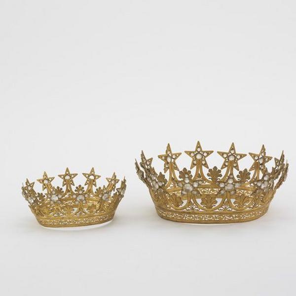Ensemble de 2 couronnes de statue (n° 2)