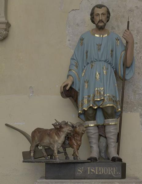 Statue : saint Isidore