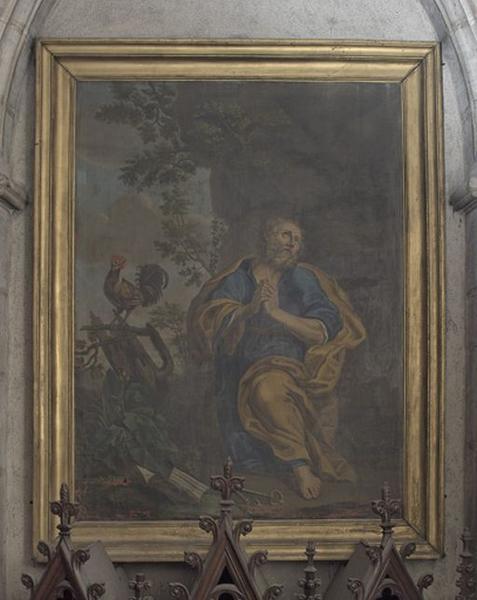 2 tableaux (en pendant) : La Madeleine repentante ; Le reniement de saint Pierre