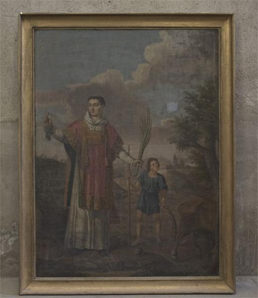 Tableau : saint Vincent et saint Isidore