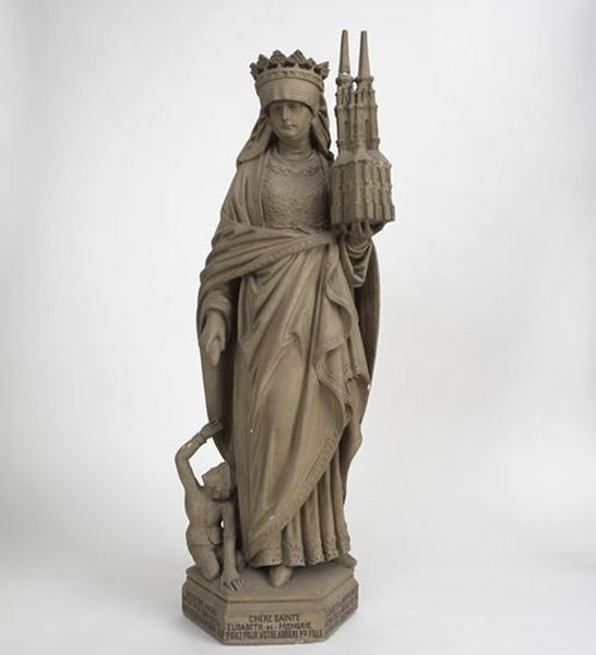 Statue : sainte Elisabeth de Hongrie