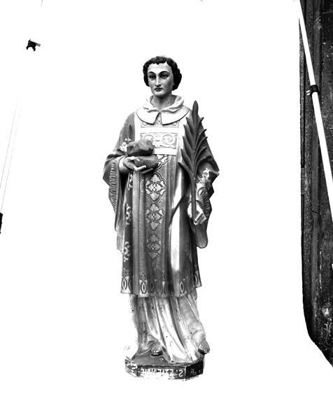 Statues : saint-Roch de Montpellier, saint Etienne
