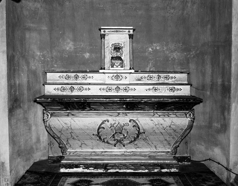 autel ; tabernacle ; gradins (2) de Saint-Nicolas