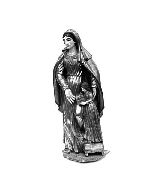 Groupe sculpté : éducation de la Vierge Sainte-Catherine d'Alexandrie