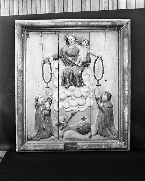 Ensemble de deux retables saint Joseph, remise du rosaire