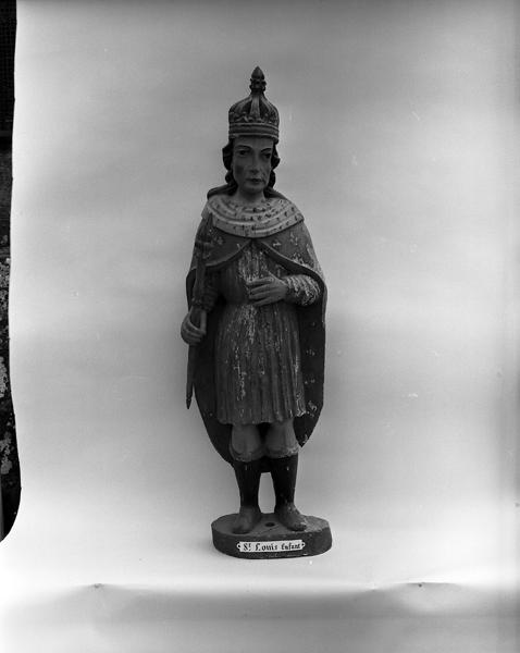 Statue (petite nature) : saint Louis