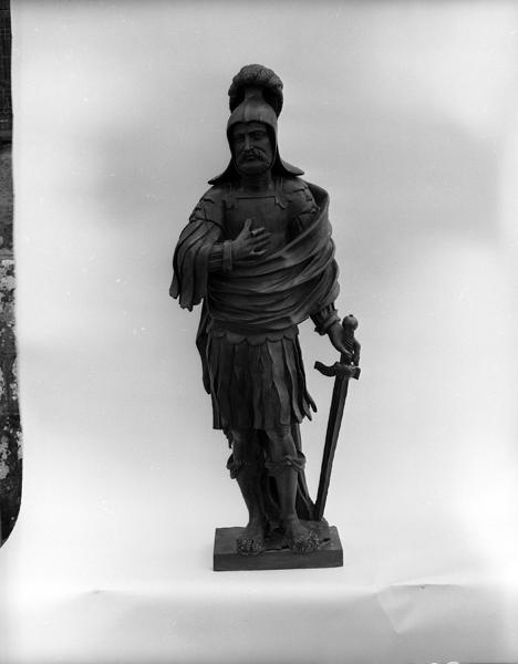 Statue (petite nature) : saint Maurice d'Agaune