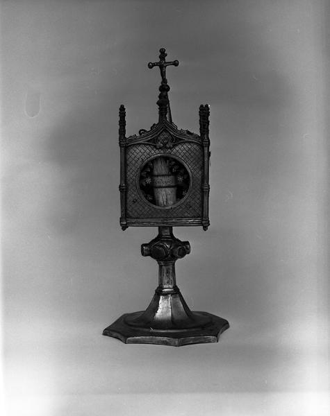 Reliquaire-monstrance de saint Louis, du Saint-Sépulcre, des pierres de la lapidation de saint Etienne, du saint prépuce